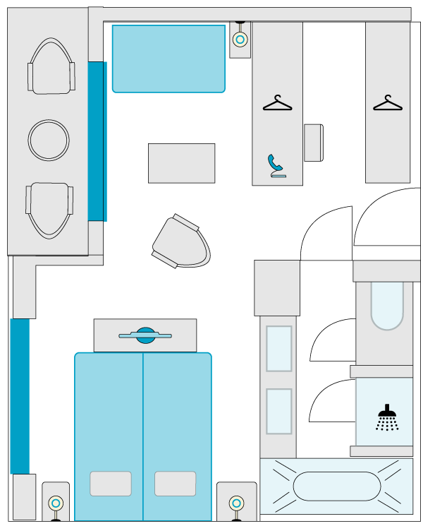 2-bed balcony suite, category F